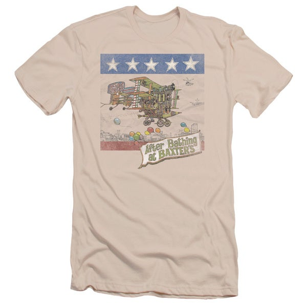 Jefferson Airplane/Baxter's Cover Short Sleeve Adult T-Shirt 30/1 in Cream