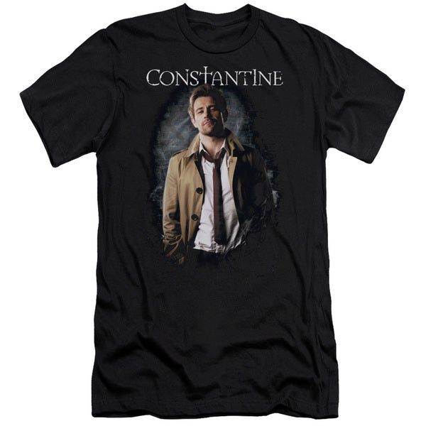 Constantine/Smoker Short Sleeve Adult T-Shirt 30/1 in Black