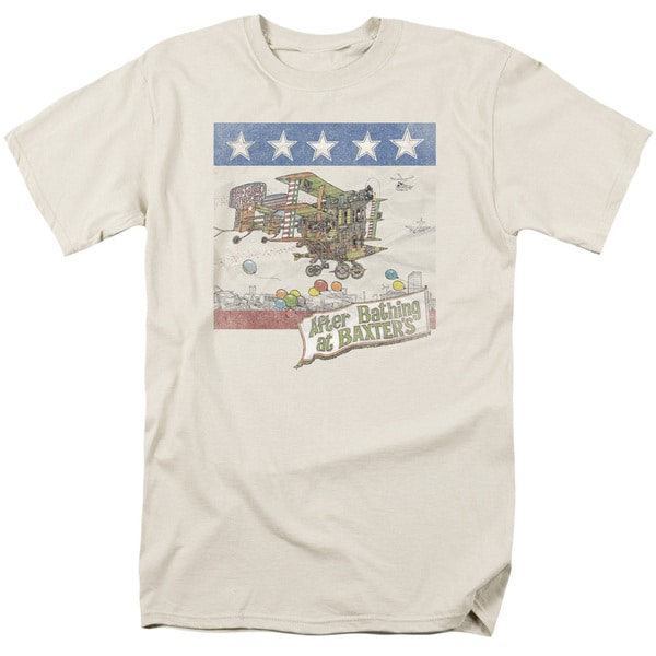 Jefferson Airplane/Baxter's Cover Short Sleeve Adult T-Shirt 18/1 in Cream