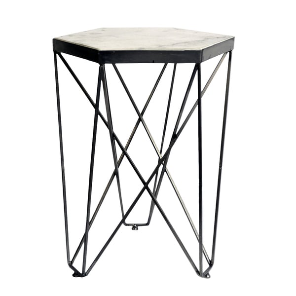 14 X 14 X 21-inch Hexagon Side Table