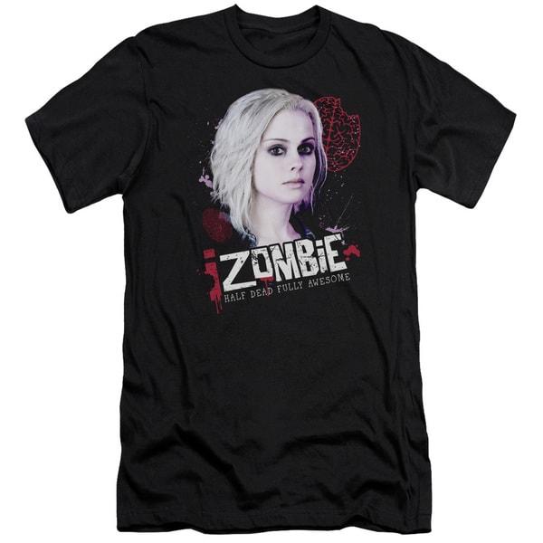 Izombie/Take A Bite Short Sleeve Adult T-Shirt 30/1 in Black