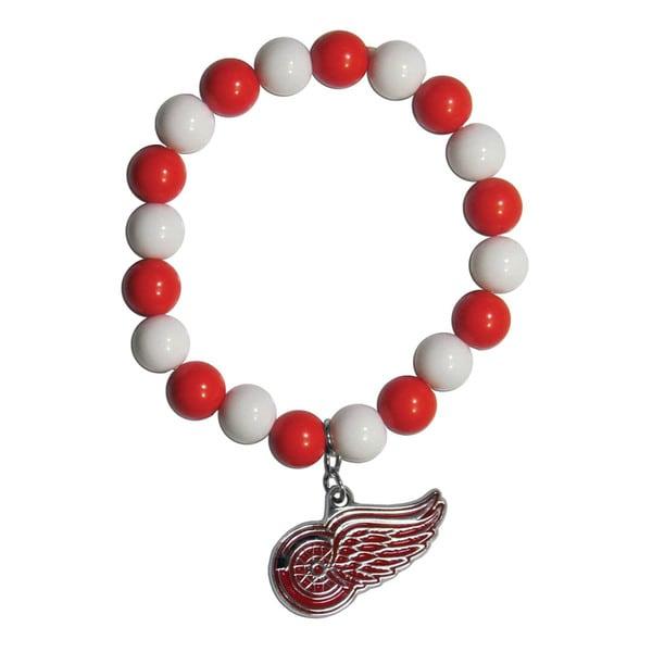 NHL Detroit Red Wings Sports Team Logo Fan Bead Bracelet