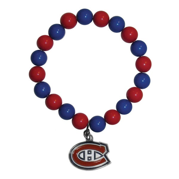 NHL Montreal Canadiens Sports Team Logo Fan Bead Bracelet
