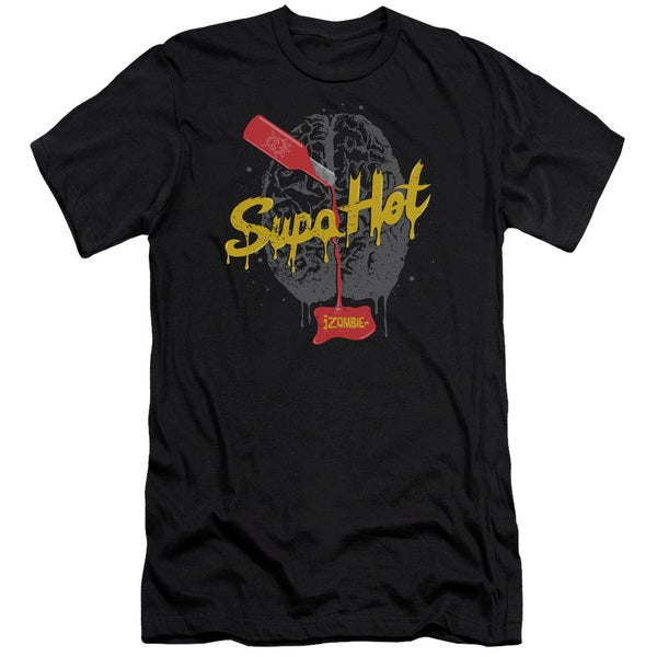 Izombie/Supa Hot Short Sleeve Adult T-Shirt 30/1 in Black