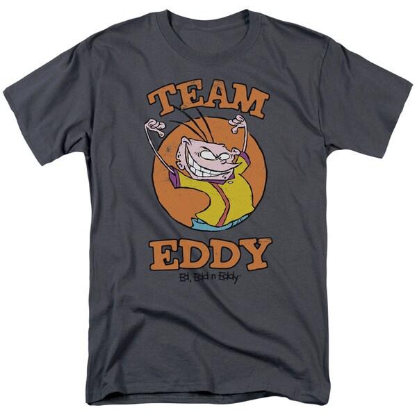 Ed Edd N Eddy/Team Eddy Short Sleeve Adult T-Shirt 18/1 in Charcoal