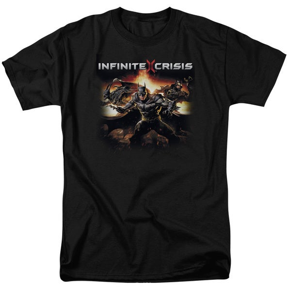 Infinite Crisis/Batmen Short Sleeve Adult T-Shirt 18/1 in Black