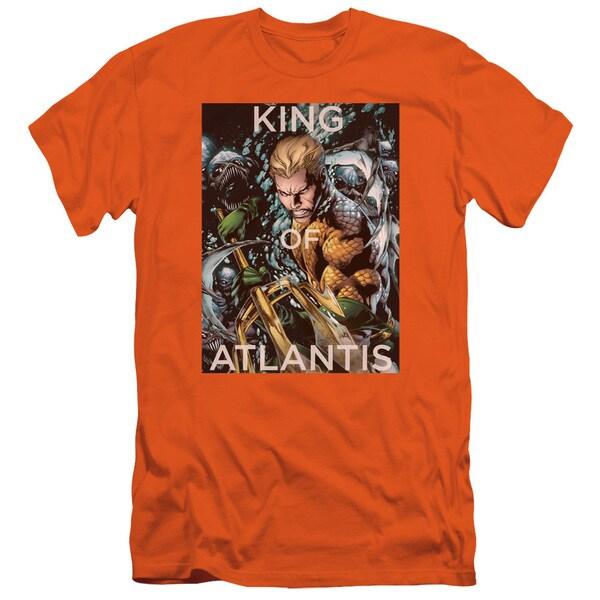 JLA/King Of Atlantis Short Sleeve Adult T-Shirt 30/1 in Orange