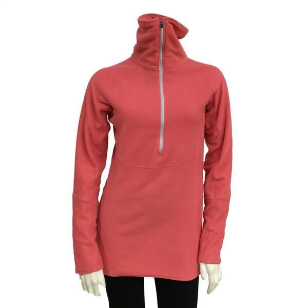 Narragansett Traders Women's Red Fleece 1/4 Zip Medium Weight Pullover