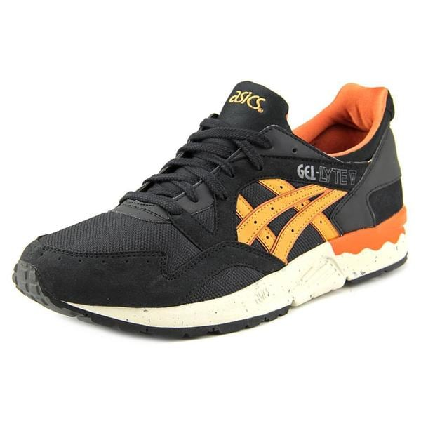 Asics Men's Gel-Lyte V Black Mesh Athletic Shoes