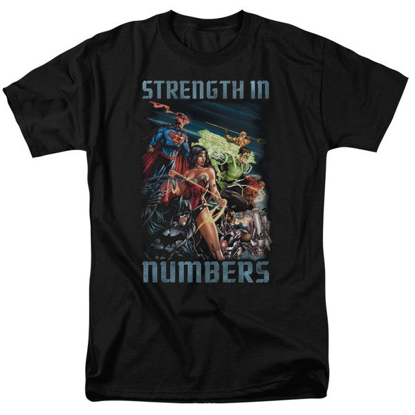 JLA/Strength in Number Short Sleeve Adult T-Shirt 18/1 in Black