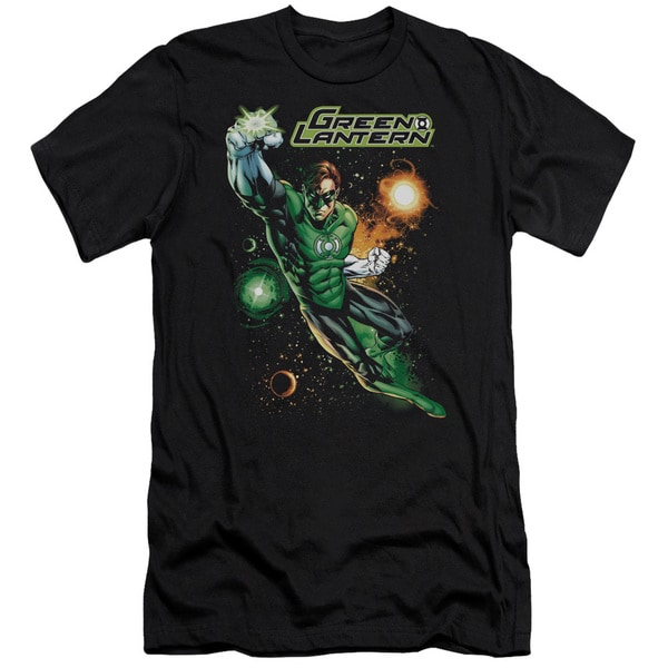 JLA/Galactic Guardian Short Sleeve Adult T-Shirt 30/1 in Black