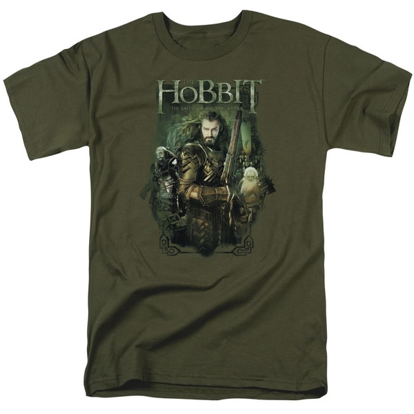 Hobbit/Thorin and Company Short Sleeve Adult T-Shirt 18/1 in Military Green