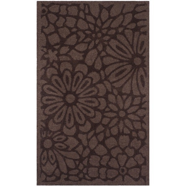 Safavieh Handmade Martha Stewart Collection Tilled Soil Brown Wool Rug (3' x 5')
