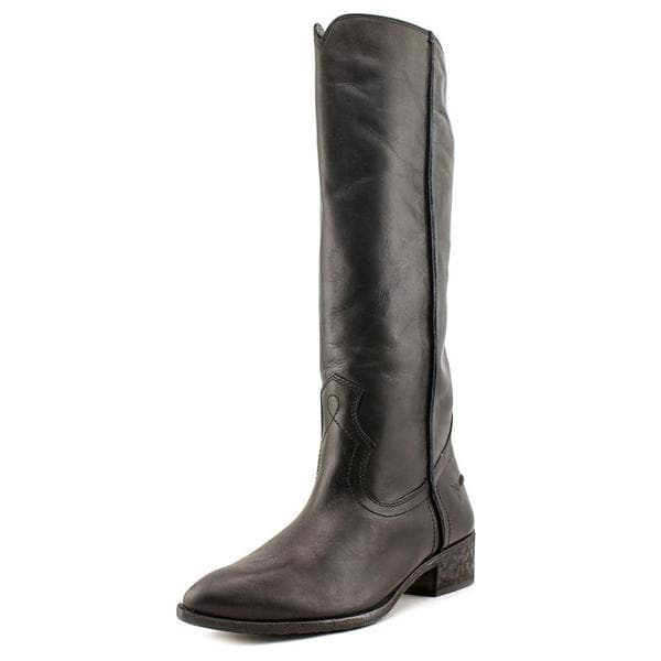 Frye Women's Ray Seam Tall-Wapu Black Leather Boots