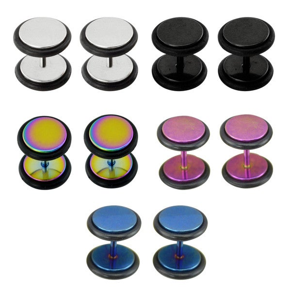 Supreme Jewelry Anodized Fake Plugs (Pack of 5)
