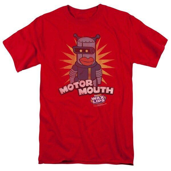 Dubble Bubble/Motor Mouth Short Sleeve Adult T-Shirt 18/1 in Red