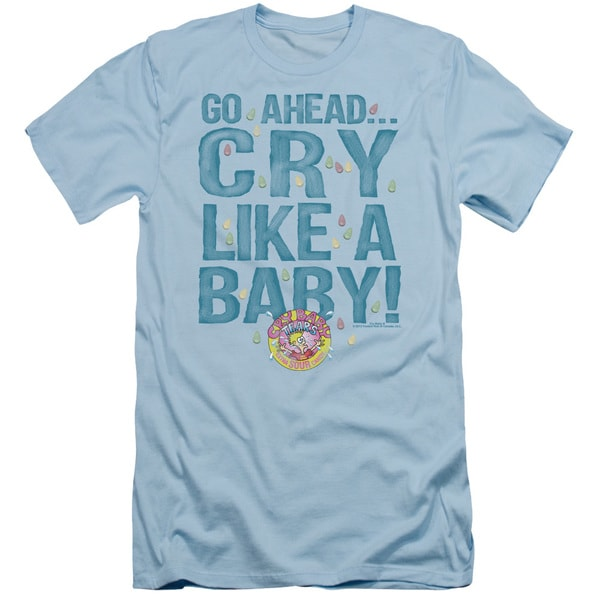 Dubble Bubble/Cry Like A Baby Short Sleeve Adult T-Shirt 30/1 in Light Blue