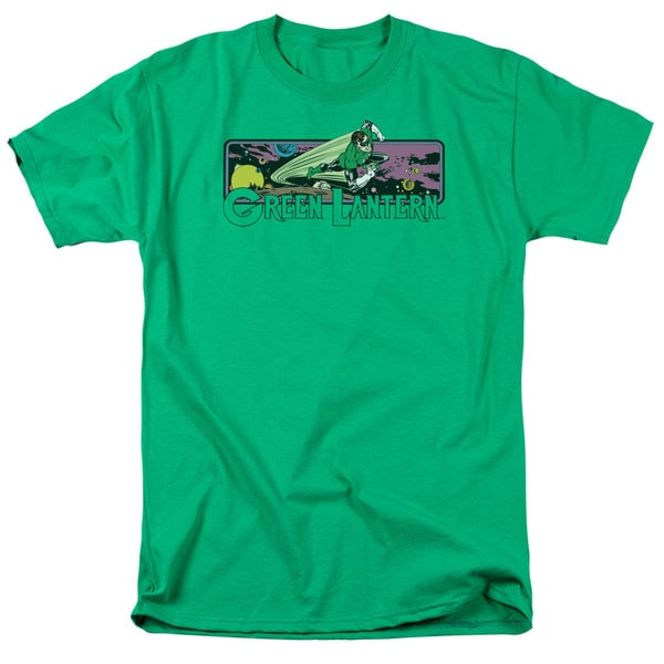 DC/Green Lantern Cosmos Short Sleeve Adult T-Shirt 18/1 in Kelly Green
