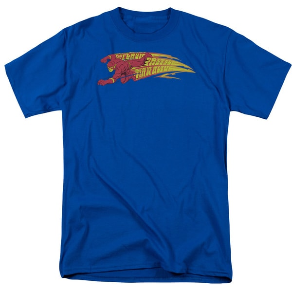 DC/Fastest Man Alive Short Sleeve Adult T-Shirt 18/1 in Royal
