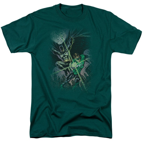 JLA/Brave & Bold #1 Short Sleeve Adult T-Shirt 18/1 in Hunter Green