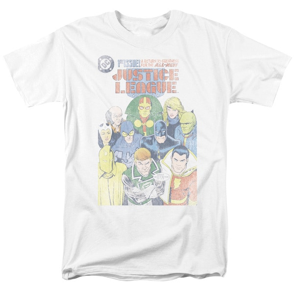 JLA/Justice League #1 Cover Short Sleeve Adult T-Shirt 18/1 in White