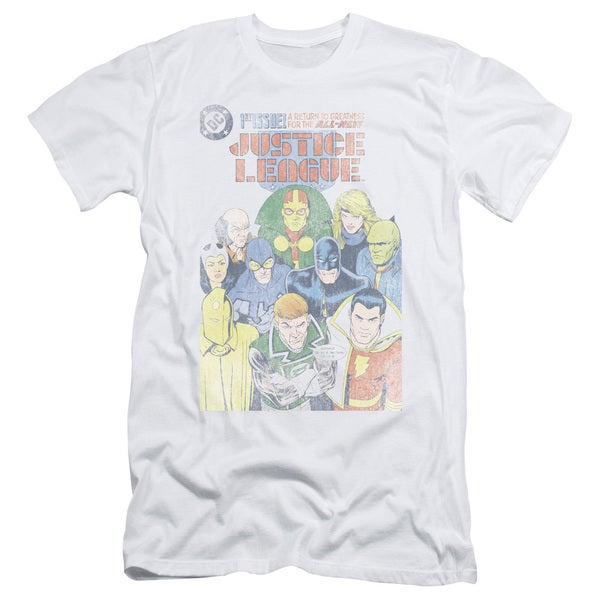 JLA/Justice League #1 Cover Short Sleeve Adult T-Shirt 30/1 in White