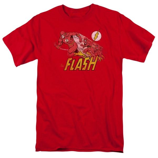 DC/Crimson Comet Short Sleeve Adult T-Shirt 18/1 in Red