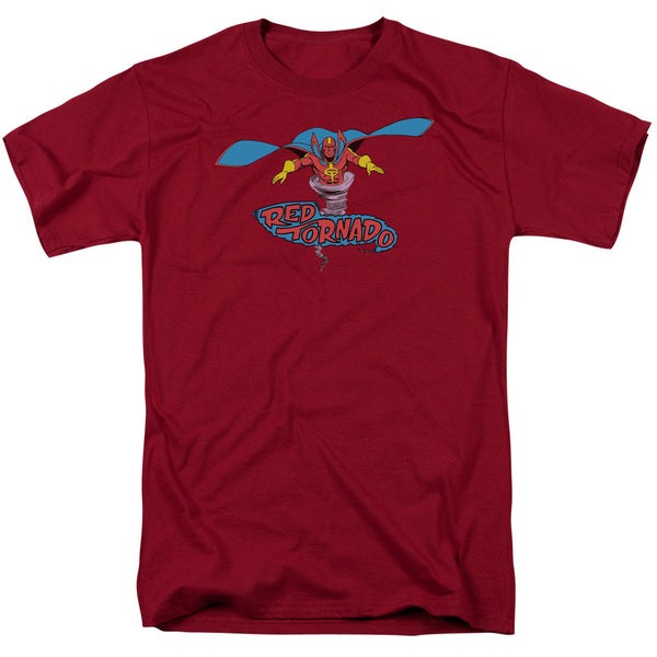 DC/Red Tornado Short Sleeve Adult T-Shirt 18/1 in Cardinal