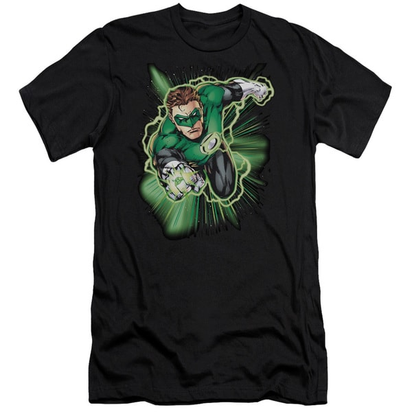 JLA/Green Lantern Energy Short Sleeve Adult T-Shirt 30/1 in Black
