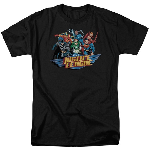JLA/Ready To Fight Short Sleeve Adult T-Shirt 18/1 in Black