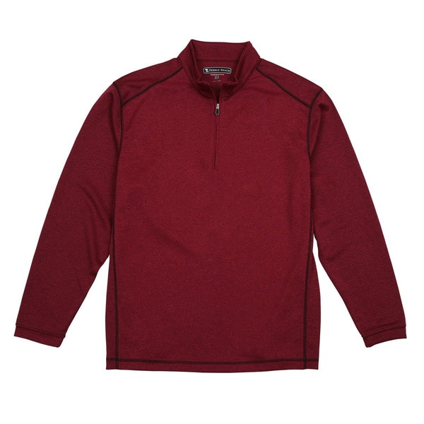 Pebble Beach Men's Performance Tech 1/4-zip Long Sleeve Golf Pullover Shirt