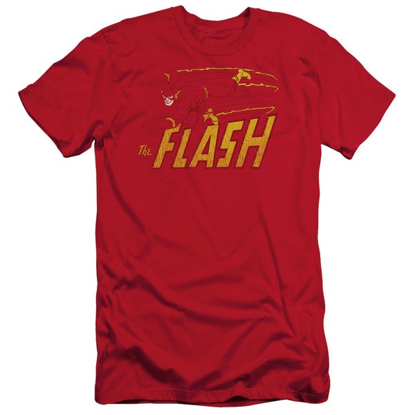 DC/Flash Speed Distressed Short Sleeve Adult T-Shirt 30/1 in Red