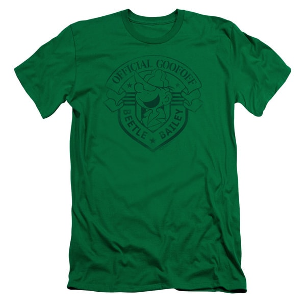 Beetle Bailey/Official Badge Short Sleeve Adult T-Shirt 30/1 in Kelly Green