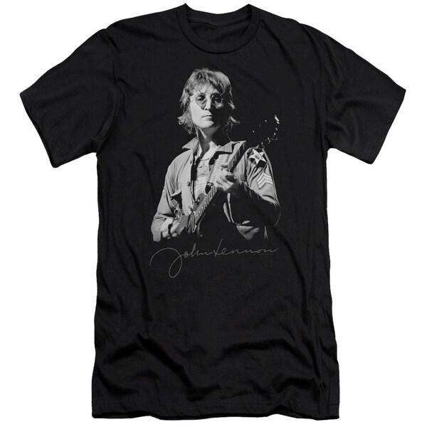 John Lennon/Iconic Short Sleeve Adult T-Shirt 30/1 in Black