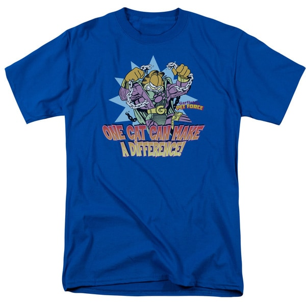 Garfield/Make A Difference Short Sleeve Adult T-Shirt 18/1 in Royal Blue