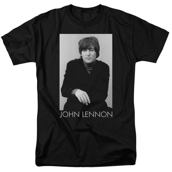 John Lennon/Ex Beatle Short Sleeve Adult T-Shirt 18/1 in Black