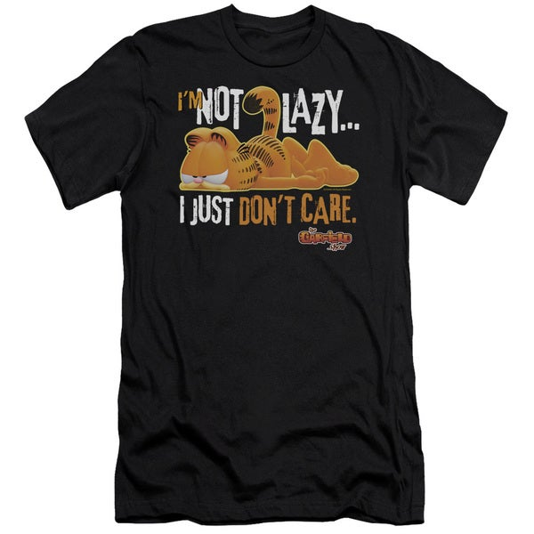 Garfield/Not Lazy Short Sleeve Adult T-Shirt 30/1 in Black