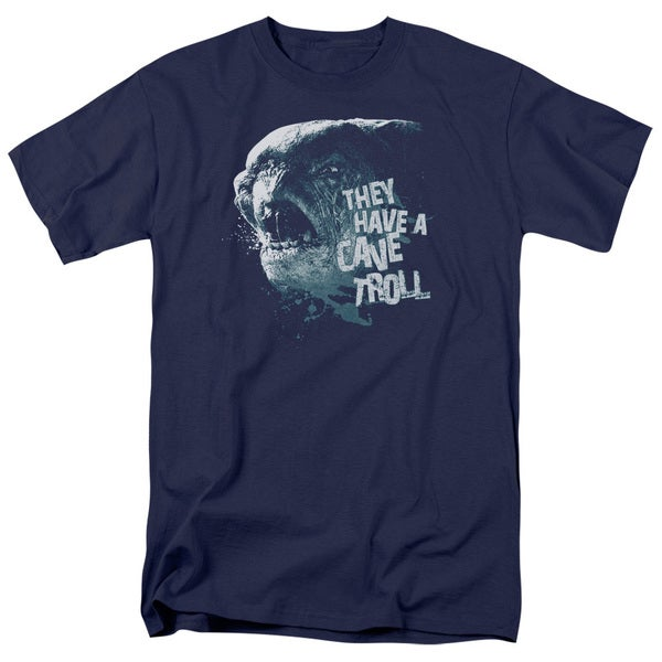 LOTR/Cave Troll Short Sleeve Adult T-Shirt 18/1 in Navy