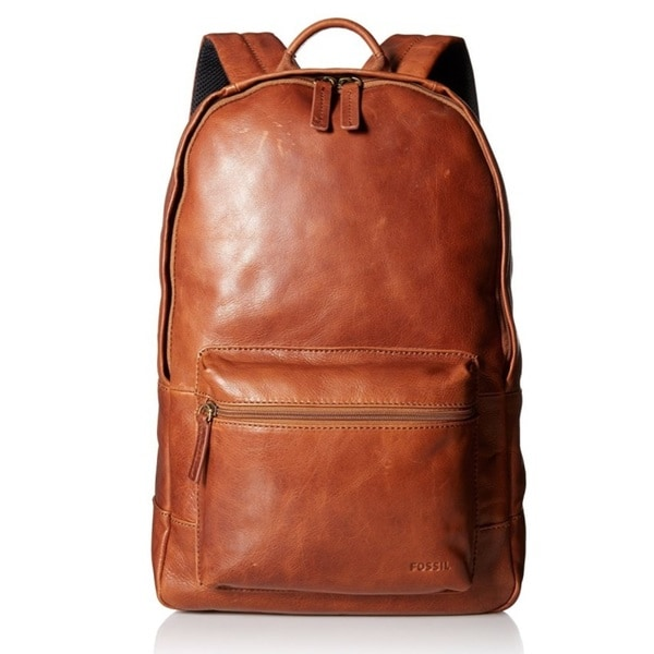 Fossil Men's Estate Leather Backpack - Cognac