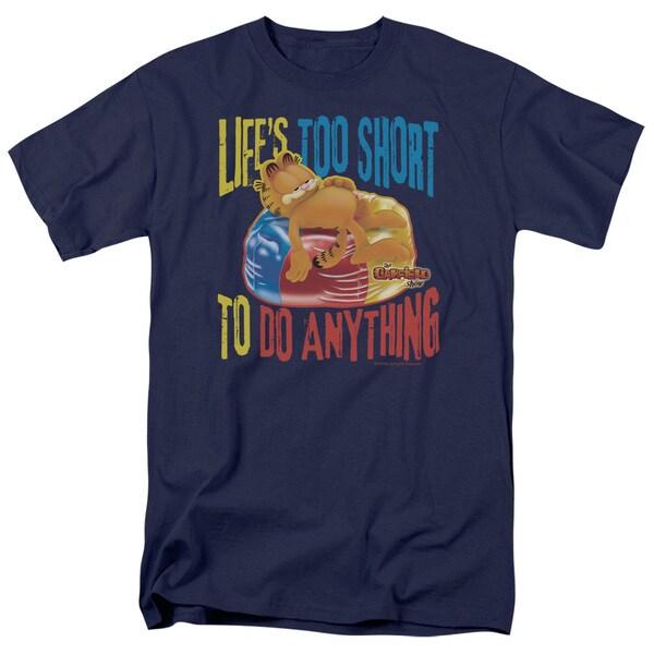 Garfield/Too Short Short Sleeve Adult T-Shirt 18/1 in Navy