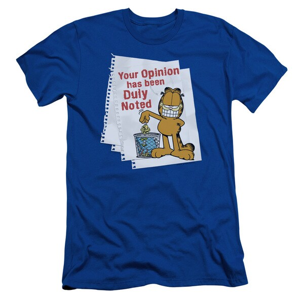 Garfield/Duly Noted Short Sleeve Adult T-Shirt 30/1 in Royal