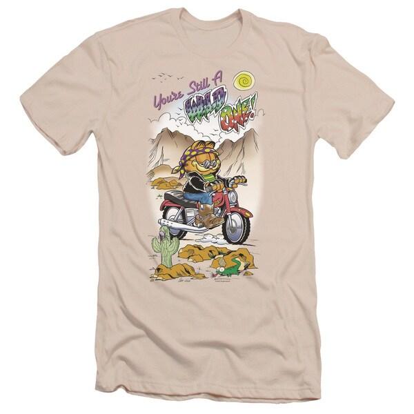 Garfield/Wild One Short Sleeve Adult T-Shirt 30/1 in Cream