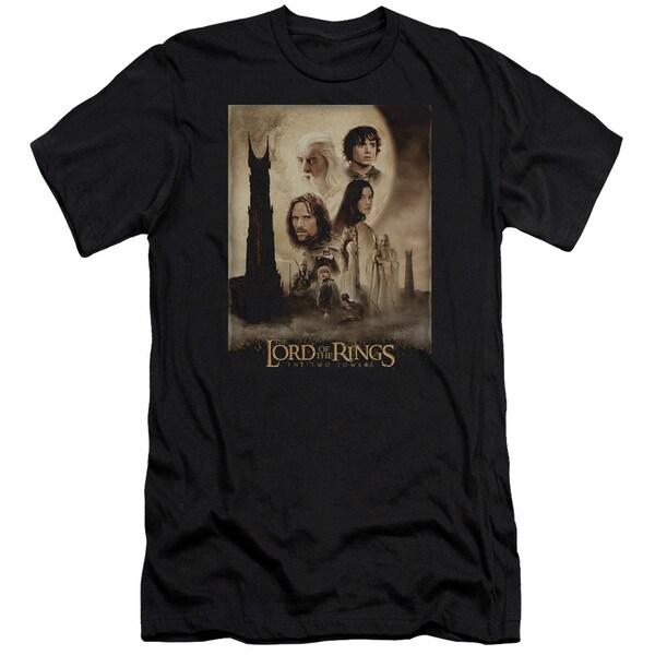 LOTR/Tt Poster Short Sleeve Adult T-Shirt 30/1 in Black