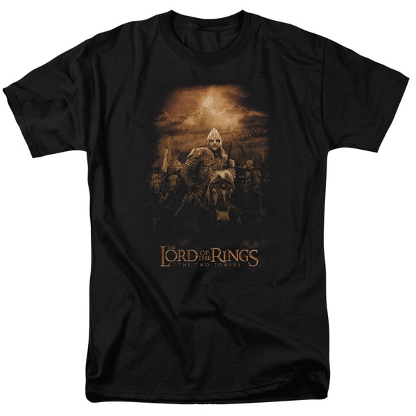 LOTR/Riders Of Rohan Short Sleeve Adult T-Shirt 18/1 in Black