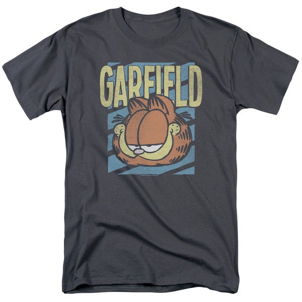Garfield/Rad Garfield Short Sleeve Adult T-Shirt 18/1 in Charcoal