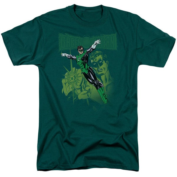 Green Lantern/Gl#166 Cover Short Sleeve Adult T-Shirt 18/1 in Hunter Green