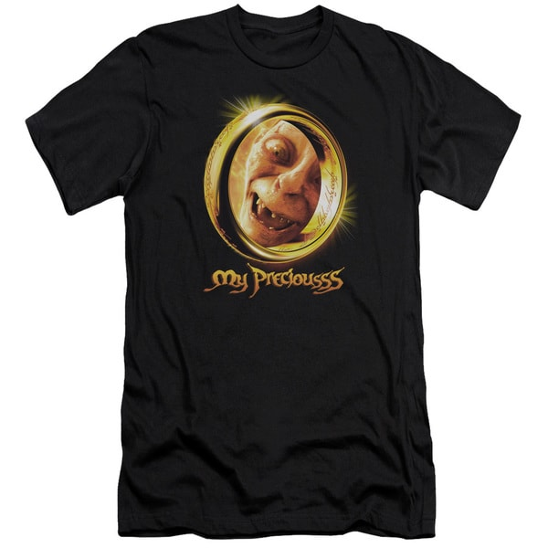 LOTR/My Precious Short Sleeve Adult T-Shirt 30/1 in Black