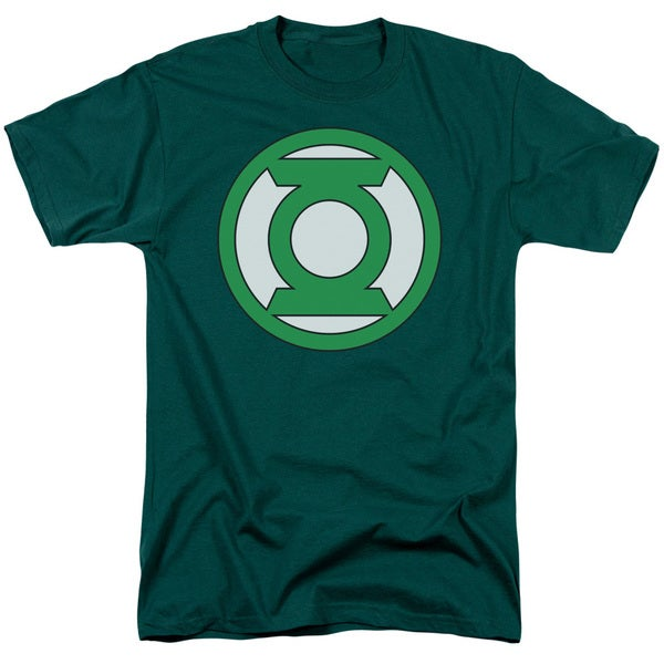 Green Lantern/Lantern Logo Short Sleeve Adult T-Shirt 18/1 in Hunter Green
