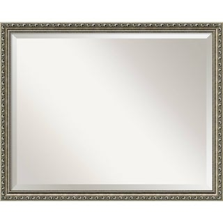 Bathroom Mirror Large, Parisian Silver 31 x 25-inch - 24.25 x 30.25 x 0.981 inches deep