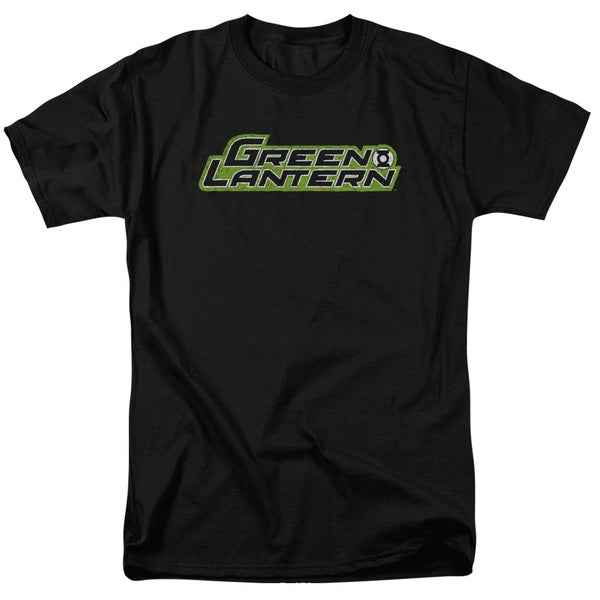 Green Lantern/Scribble Title Short Sleeve Adult T-Shirt 18/1 in Black